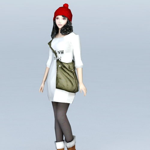 School Preppy Girl Character
