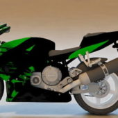 Honda Cbr Green Sport Bike