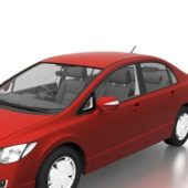Red Honda Civic Hybrid Car
