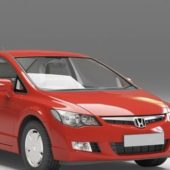 Vehicle Honda Civic Sedan Red