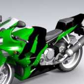 Honda Green Sport Bike