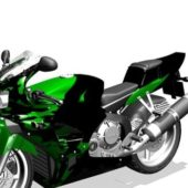 Honda Green Sport Motorcycle