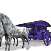 Horse Drawn Vintage Carriage