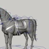 Animal Horse With Saddle Rigged