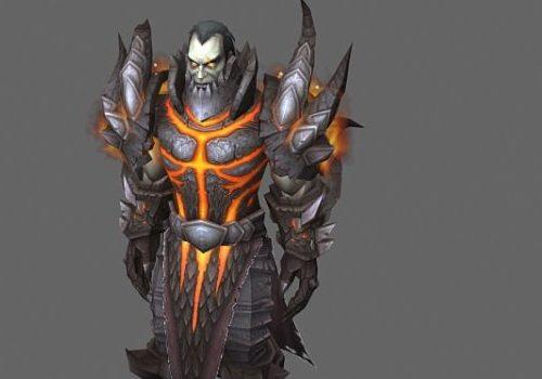 Human Warrior Game Character