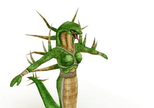 Humanoid Snake Female