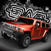 Hummer H3 Red Paint
