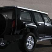 Hummer H3 Black Car