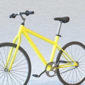 Yellow Hybrid Road Bike