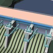 Large Hydraulic Building Dam