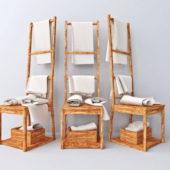 Ikea Chair Furniture Towel Rack