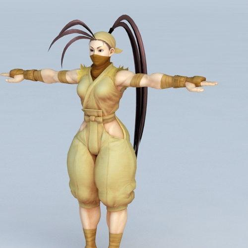 Street Fighter Girl Character