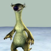 Ice Age Sid Cartoon Character