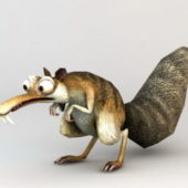 Character Ice Age Squirrel Scrat Rigged