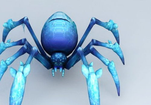 Ice Spider Animal Character