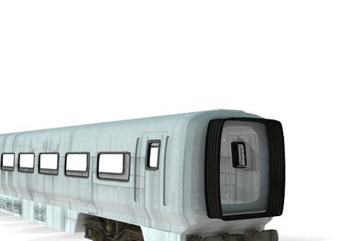 White Intercity Train Car