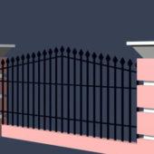 Courtyard Iron Fence
