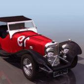 Vintage Car Jaguar Coupe Car