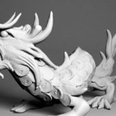 Japanese Dragon Animal Sculpture