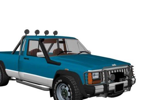 Blue Jeep Comanche Pickup Truck