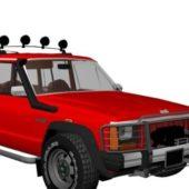 Red Jeep Grand Cherokee Suv