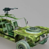 Jeep Mounted Gun Car