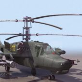 Russian Ka-50 Anti Armour Helicopter