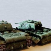Soviet Kv1 Tank Destroyed