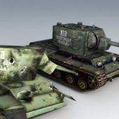 Soviet Kv-2 Tanks