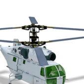 Russian Ka-27 Military Helicopter