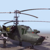 Russian Ka-50 Attack Helicopter