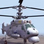 Russian Ka25 Anti Submarine Helicopter