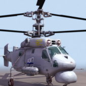 Russian Ka-25 Kamov Helicopter