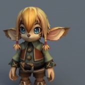 Cartoon Character Kawaii Elf Girl