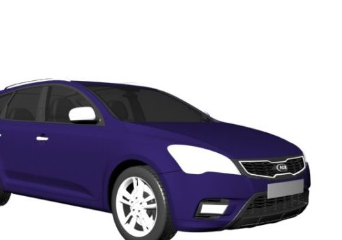 Purple Kia Ceed Compact Car