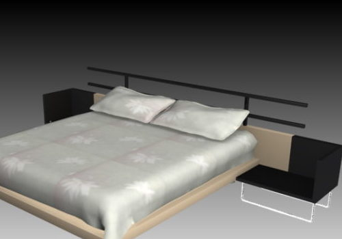 King-sized Double Bed With Nightstands