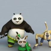 Kung Fu Panda Bear Characters