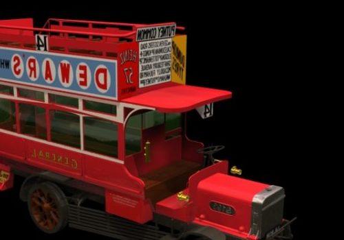 Red Lgoc B-type Bus Vehicle