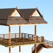 Wooden Lake Gazebo
