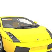Yellow Lamborghini Gallardo Sports Car