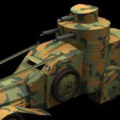Military Lancia Iz Armored Car