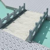 Asian Landscape Footbridge