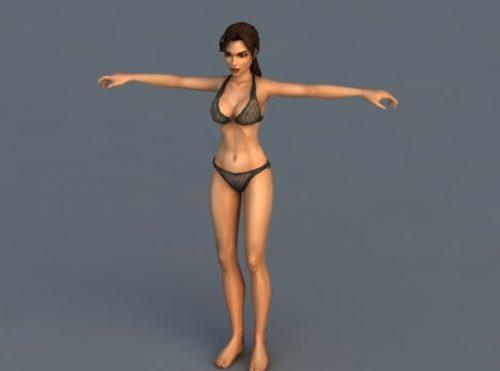 Lara Croft Character Bikini