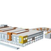 Large Supermarket Architecture Building