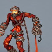 Game Character Lava Demon