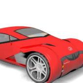 Red Lexus Future Concept Car