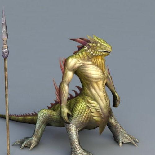 Lizard Man Warrior Character