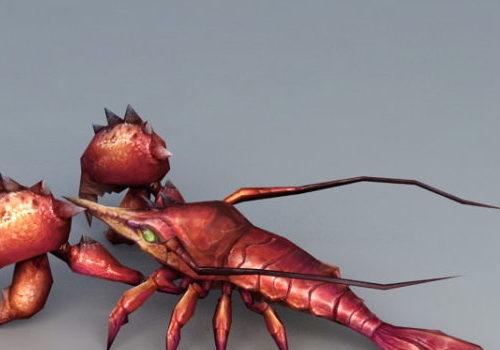 Cartoon Lobster Monster