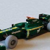 Green Lotus F1 Racing Car