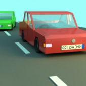Low-poly Cartoon Car